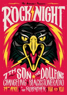 Rock Night poster by Ian Jepson.