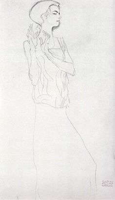 gustav klimt pencil drawings  | drawing sketch for pencil drawing from klimt