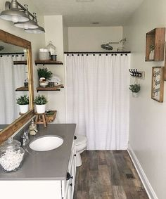 29 Guest Bathroom Ideas to 'Wow' Your Visitors #bathroom #bathroomdecor #bathroomdecorideas #Cute #bathroomremodelingideas #bathroomremodel #bathroomrenovationideasau