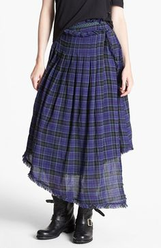 Free People Tartan Plaid Faux Wrap Skirt available at #Nordstrom