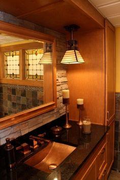 Bathroom on pinterest home renovation teen bathrooms for Arts and crafts bathroom design ideas