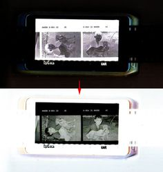 How to scan film negatives using your iphone/smarphone or tablet... what a great idea!