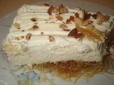 Η αίσθηση της γεύσης: Νηστίσιμο κανταίφι με κρέμα λεμονιού! Greek Recipes, Vegan Recipes, Cooking Recipes, Greek Cake, Meals Without Meat, Greek Sweets, Light Desserts, My Cookbook, Vegan Cake