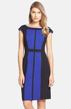 Betsey Johnson Colorblock Ponte Sheath Dress available at #Nordstrom $82