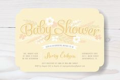 Sweet Garden Shower Baby Shower Invitations by Hooray Creative at minted.com
