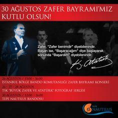 30 Ağustos Zafer Bayramı etkinliklerimiz Büyük Taarruz'un başladığı 26 Ağustos tarihinde Bando Konseri ile başlıyor.