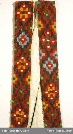 Digitalt Museum - Brudedrakt fra Tinn i Telemark, brukt av Astrid Bakke da hun giftet seg i 1864. Stakkseler i kelimteknikk.