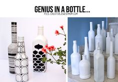 beer bottles can be recycled into pretty bud vases - just pick GORGEOUS PAPERS or fabrics for the outside and seal it very well