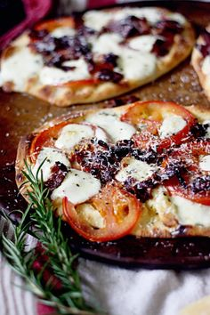 Bacon Tomato Rosemary Pizza