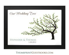 Thumbprint Guestbook Tree # 3  Check it out http://thumbprintguestbooks.com/thumbprint-guestbook-tree-3/