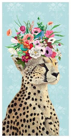 You got a fresh delivery of flowers from the most charming cheetah around! Our canvas wall art and art prints are proudly printed in the USA using the coveted giclée method. These artworks are eye-catching and made with the highest quality inks, re Art And Illustration, Art Illustrations, Art Pop, Floral Wall Art, Cat Art, Canvas Wall Art, Canvas 5, Framed Canvas, Wall Art Prints