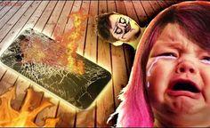 Quebrei o celular da nenha e ela chorou!
