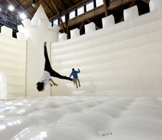 We NEED an adult bouncy castle like this for our next company weekend!! Sooo much fun :o)