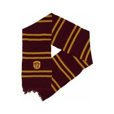 Harry Potter Gryffindor Scarf ($14) ❤ liked on Polyvore featuring accessories and scarves
