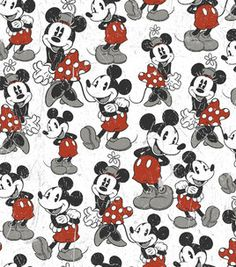Licensed Flannel Fabric- Mickey Vintage Comic : licensed fabric: fabric: Shop   Joann.com