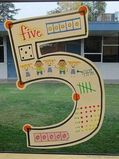 """""""number anchor chart"""" -My cooperating teacher when I student taught in Kindergarten made these number anchor charts. Super cute, and a very nice way to show different ways numbers can look. Teaching Numbers, Numbers Preschool, Math Numbers, Teaching Math, Decomposing Numbers, Preschool Learning, Fun Learning, Kindergarten Anchor Charts, Kindergarten Fun"""