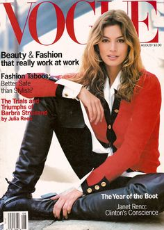 US Vogue August 1993, Cindy Crawford