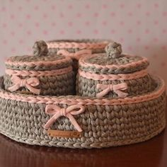 For order please inbox us Crochet Mat, Crochet Round, Crochet Home, Crochet Stitches, Chenille Blanket, Knitting Patterns, Crochet Storage, Crochet Decoration, Bebe