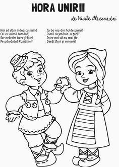 History Of Romania, Projects For Kids, Crafts For Kids, Romanian Flag, Human Drawing, Early Education, School Lessons, Raising Kids, Adult Coloring Pages