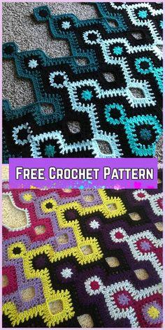 Crochet Nostromo Blanket Bedspread Free Pattern