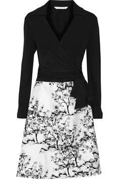 Diane von Furstenberg Amelianna printed cotton and silk-blend wrap dress