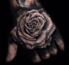 Searching for the Rose tattoos that will make you say wow? You can find the best rose tattoos in this article for inspiration. Dope Tattoos, Badass Tattoos, Body Art Tattoos, Sleeve Tattoos, Rose Tattoos For Men, Hand Tattoos For Guys, Hand Tats, Black Rose Tattoos, Dead Rose Tattoo
