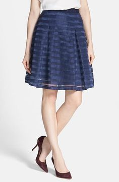 Pretty work-wear: Organza Stripe Skirt