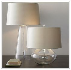 Clear Lamps - but maybe a colored shade?