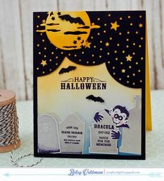 Dracula Halloween Card by Betsy Veldman for Papertrey Ink (August 2015)