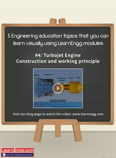 Here's an easy & interesting way to learn about Turbojet Engine - Construction and working principle. Visit our blog page to watch the video:   [Click on the image] ‪#‎learnengg‬ ‪#‎video‬ ‪#‎visuallearning‬ ‪#‎3dm‬