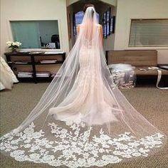 3 Meters Long Cathedral Wedding Veils