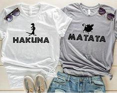 Excited to share this item from my shop: Hakuna Matata Timon and Pumba Shirt, Lion King Shirt, Couples Shirts, Best Friend Shirts, Family Disney Shirts Best Friend Matching Shirts, Best Friend T Shirts, Matching Disney Shirts, Best Friend Outfits, Disney Shirts For Family, Best Friend Clothes, Disney Family, Cute Disney Shirts, Best Friend Stuff