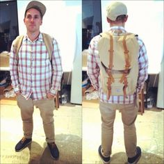 Meet Paul from the Design team sporting a Herschel Little America backpack!