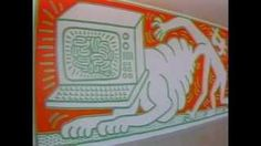 keith haring painting mural - YouTube