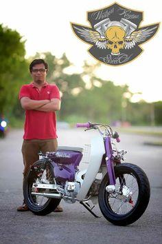 Visit the post for more. Honda Cub, C90 Honda, Honda Ruckus, Custom Motorcycles, Custom Bikes, Scooters, Cb400 Super Four, Estilo Cafe Racer, Custom Vespa