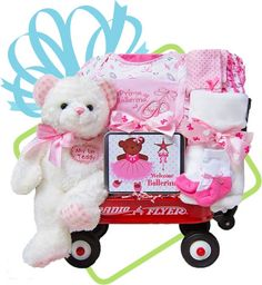 The more the merrier triplets and quadruplets baby gift basket baby gift baskets the baby ballerina whimsical wagon negle Image collections