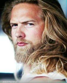Long Beard Styles, Hair And Beard Styles, Long Hair Styles, Norwegian Men, Long Hair Beard, Goth Guys, Viking Hair, Long Beards, Blonde Guys