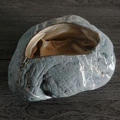 Where to hide your keys.  Stone Sculptures by Japanese Artist Jiyuseki