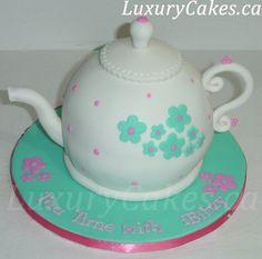Teapot cake Cake by Sobi Tea Party Birthday, Birthday Cake, Party Party, Teapot Cake, Girly Cakes, Cupcake Cakes, Cupcakes, Cupcake Ideas, Mad Hatter Tea