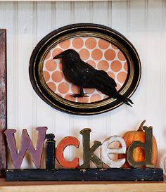 The Rachel Berry Blog: { Framed Black Crow --- EASY Mini Tutorial }