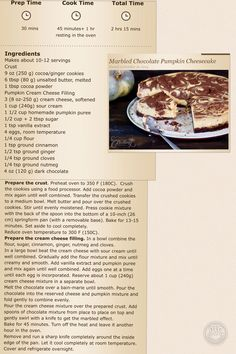 Marbled Chocolate Pumpkin cheesecake