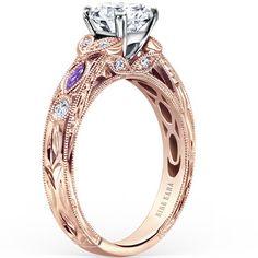 Kirk Kara Dahlia Marquise Shape Amethyst Diamond Engagement Ring · K1120ADCP-R · Ben Garelick Jewelers