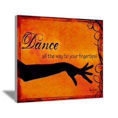 Tribal Bellydance orange Canvas Art love, love, loveee