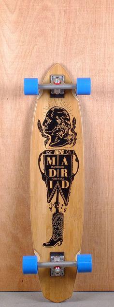 "Madrid 39"" President Dude Bamboo Longboard"