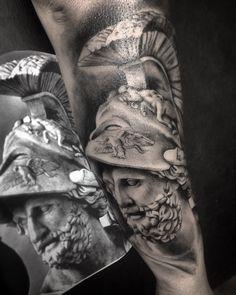 Tattoo estátua grego