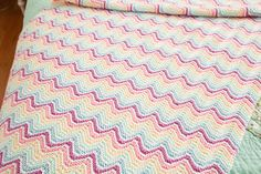 Rainbow Knit Blankie - Knitting Patterns and Crochet Patterns from KnitPicks.com