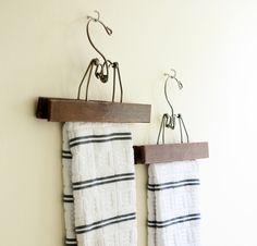 Vintage Pant Hanger Towel Rack