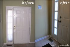 Remodelaholic | Adding Privacy to Sidelights! Faux Stained Glass DIY