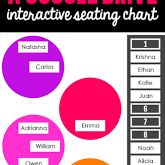 Ladybug's Teacher Files: A 5th Grade Teaching Blog / google drive interactive seating chart