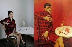 remake fotografia y pintura - BúsquedadeGoogle Famous Artwork, Famous Photos, Funny Paintings, Old Paintings, American Gothic, Tableaux Vivants, Van Gogh, Arte Sketchbook, Classic Paintings